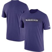 Wholesale Cheap Baltimore Ravens Nike Sideline Seismic Legend Performance T-Shirt Purple