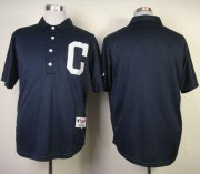 Wholesale Cheap Indians Blank Navy Blue 1902 Turn Back The Clock Stitched MLB Jersey