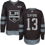 Wholesale Cheap Adidas Kings #13 Kyle Clifford Black 1917-2017 100th Anniversary Stitched NHL Jersey