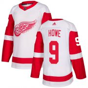Wholesale Cheap Adidas Red Wings #9 Gordie Howe White Road Authentic Stitched Youth NHL Jersey