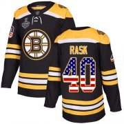 Wholesale Cheap Adidas Bruins #40 Tuukka Rask Black Home Authentic USA Flag Stanley Cup Final Bound Stitched NHL Jersey
