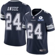 Wholesale Cheap Nike Cowboys #24 Chidobe Awuzie Navy Blue Team Color Men's Stitched With Established In 1960 Patch NFL Vapor Untouchable Limited Jersey