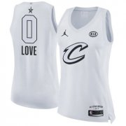 Wholesale Cheap Nike Cleveland Cavaliers #0 Kevin Love White Women's NBA Jordan Swingman 2018 All-Star Game Jersey