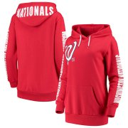Wholesale Cheap Washington Nationals G-III 4Her by Carl Banks Women's 12th Inning Pullover Hoodie Red