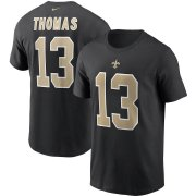 Wholesale Cheap New Orleans Saints #13 Michael Thomas Nike Team Player Name & Number T-Shirt Black