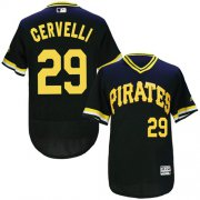 Wholesale Pirates #29 Francisco Cervelli Black Flexbase Authentic Collection Cooperstown Stitched Baseball Jersey