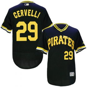 Wholesale Cheap Pirates #29 Francisco Cervelli Black Flexbase Authentic Collection Cooperstown Stitched MLB Jersey