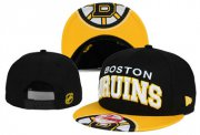 Wholesale Cheap NHL Boston Bruins Team Logo Black Snapback Adjustable Hat