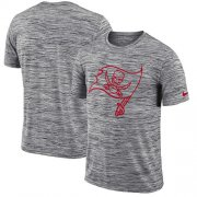 Wholesale Cheap Men's Tampa Bay Buccaneers Nike Heathered Black Sideline Legend Velocity Travel Performance T-Shirt
