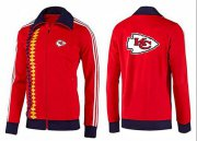 Wholesale NFL Kansas City Chiefs Team Logo Jacket Red_2