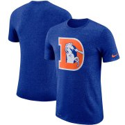 Wholesale Cheap Denver Broncos Nike Marled Historic Logo Performance T-Shirt Heathered Royal