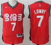 Wholesale Cheap Men's Toronto Raptors #7 Kyle Lowry Red Chinese Stitched 2017 NBA Revolution 30 Swingman Jersey