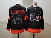 Wholesale Cheap Men's Philadelphia Flyers #14 Sean Couturier Black Adidas 2020-21 Stitched NHL Jersey