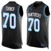 Wholesale Cheap Nike Panthers #70 Trai Turner Black Team Color Men's Stitched NFL Limited Tank Top Jersey