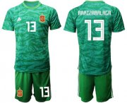 Wholesale Cheap Spain #13 Arrizabalaga Green Goalkeeper Soccer Country Jersey