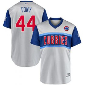 "Wholesale Cheap Cubs #44 Anthony Rizzo Gray ""Tony\"" 2019 Little League Classic Stitched MLB Jersey"
