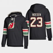 Wholesale Cheap New Jersey Devils #23 Stefan Noesen Black adidas Lace-Up Pullover Hoodie