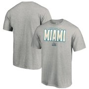 Wholesale Cheap NFL Miami Super Bowl LIV Palm T-Shirt Heathered Gray