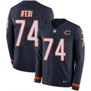 Wholesale Cheap Nike Bears #74 Germain Ifedi Navy Blue Team Color Men's Stitched NFL Limited Therma Long Sleeve Jersey