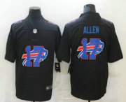 Wholesale Cheap Men's Buffalo Bills #17 Josh Allen Black 2020 Shadow Logo Vapor Untouchable Stitched NFL Nike Limited Jersey