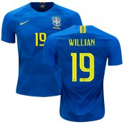 Wholesale Cheap Brazil #19 Willian Away Kid Soccer Country Jersey