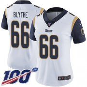 Wholesale Cheap Nike Rams #66 Austin Blythe White Women's Stitched NFL 100th Season Vapor Untouchable Limited Jersey