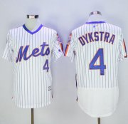 Wholesale Mets #4 Lenny Dykstra White(Blue Strip) Flexbase Authentic Collection Alternate Stitched Baseball Jersey