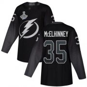 Cheap Adidas Lightning #35 Curtis McElhinney Black Alternate Authentic 2020 Stanley Cup Champions Stitched NHL Jersey
