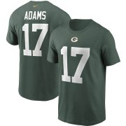 Wholesale Cheap Green Bay Packers #17 Davante Adams Nike Team Player Name & Number T-Shirt Green