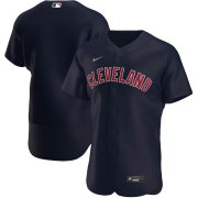 Wholesale Cheap Cleveland Indians Men's Nike Navy Alternate 2020 Authentic Logo Team MLB Jersey