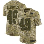 Wholesale Cheap Nike Bills #49 Tremaine Edmunds Camo Men's Stitched NFL Limited 2018 Salute To Service Jersey