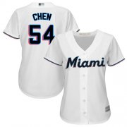 Wholesale Cheap Marlins #54 Wei-Yin Chen White Home Women's Stitched MLB Jersey