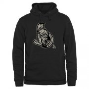 Wholesale Cheap Men's Ottawa Senators Black Rink Warrior Pullover Hoodie