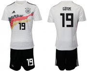 Wholesale Cheap Germany #19 Gotze White Home Soccer Country Jersey
