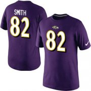 Wholesale Cheap Nike Baltimore Ravens #82 Torrey Smith Pride Name & Number NFL T-Shirt Purple