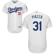 Wholesale Cheap Dodgers #31 Mike Piazza White Flexbase Authentic Collection Stitched MLB Jersey