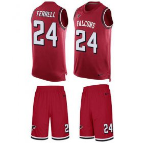 Wholesale Cheap Nike Falcons #24 A.J. Terrell Red Team Color Men\'s Stitched NFL Limited Tank Top Suit Jersey