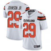 Wholesale Cheap Nike Browns #29 Duke Johnson Jr White Men's Stitched NFL Vapor Untouchable Limited Jersey