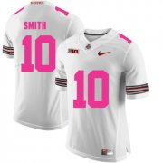 Wholesale Cheap Ohio State Buckeyes 10 Troy Smith White 2018 Breast Cancer Awareness College Football Jersey