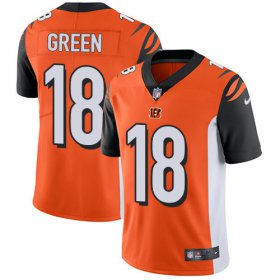 Wholesale Cheap Nike Bengals #18 A.J. Green Orange Alternate Youth Stitched NFL Vapor Untouchable Limited Jersey