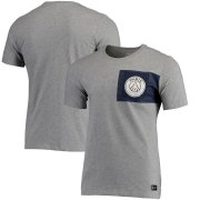 Wholesale Cheap Paris Saint-Germain Nike Team Crest T-Shirt Heathered Gray
