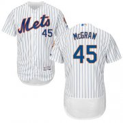 Wholesale Cheap Mets #45 Tug McGraw White(Blue Strip) Flexbase Authentic Collection Stitched MLB Jersey