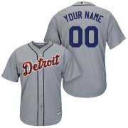 Wholesale Cheap Detroit Tigers Majestic Cool Base Custom Jersey Gray