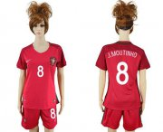 Wholesale Cheap Women's Portugal #8 J.Moutinho Home Soccer Country Jersey