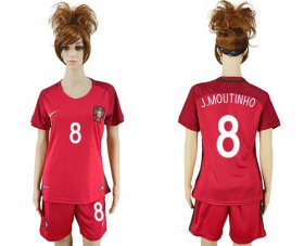 Wholesale Cheap Women\'s Portugal #8 J.Moutinho Home Soccer Country Jersey