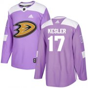 Wholesale Cheap Adidas Ducks #17 Ryan Kesler Purple Authentic Fights Cancer Youth Stitched NHL Jersey