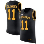 Wholesale Cheap Nike Steelers #11 Chase Claypool Black Team Color Men's Stitched NFL Limited Rush Tank Top Jersey