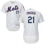 Wholesale Cheap Mets #21 Todd Frazier White(Blue Strip) Flexbase Authentic Collection Stitched MLB Jersey