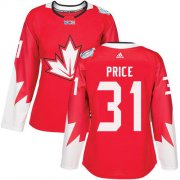 Wholesale Cheap Team Canada #31 Carey Price Red 2016 World Cup Women's Stitched NHL Jersey
