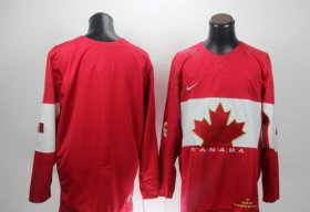 Wholesale Cheap Olympic 2014 CA. Blank Red Stitched NHL Jersey